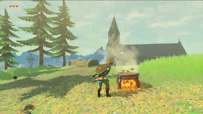 Link cooks peppers in breath of the wild
