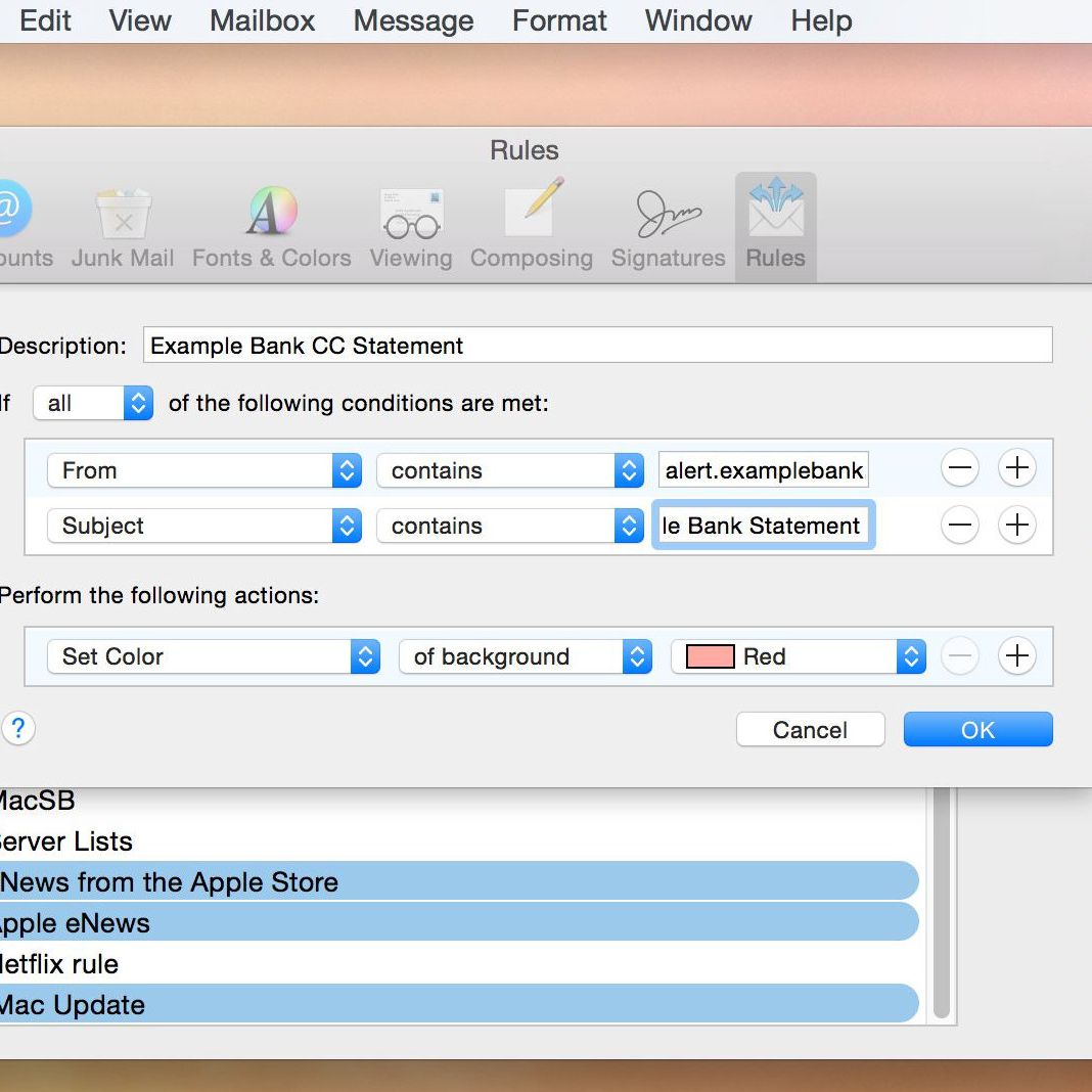 How to Set Up Apple Mail Rules