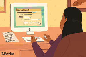 Illustration of someone adding an account to move their mail to