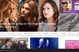 Screenshot of Myspace web page