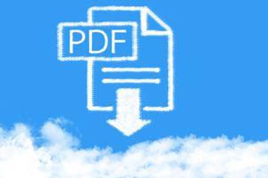 A PDF icon above a cloud