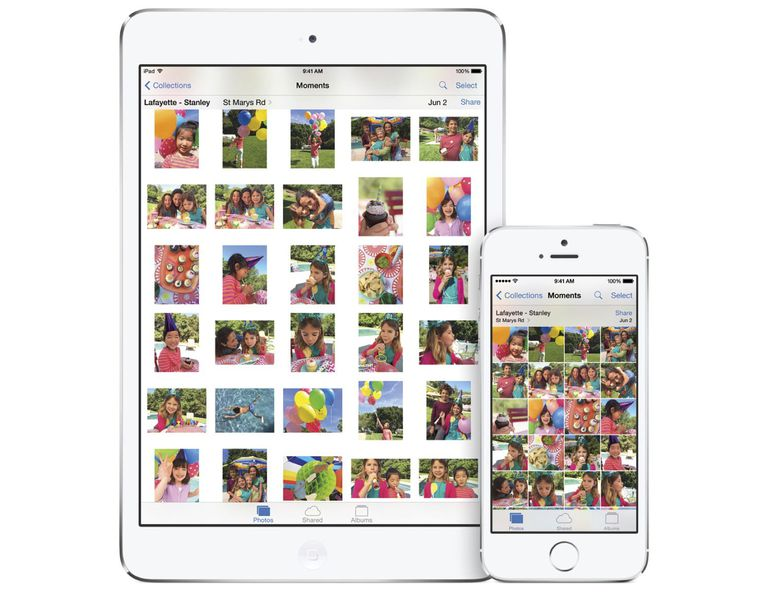 iPad and iPhone displaying photos