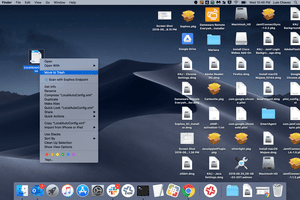 Delete files on Mac