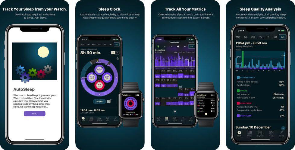 AutoTracker Sleep Tracking Apple Watch Screenshot