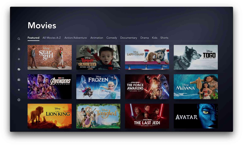 Disney Plus app for Apple TV
