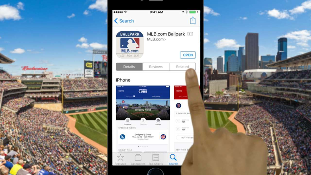 Use the MLB Ballpark app to check-in, order food, and more at live games