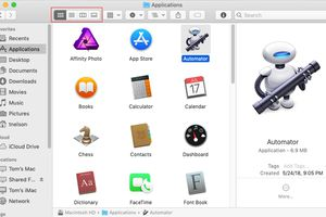 Finder View controls