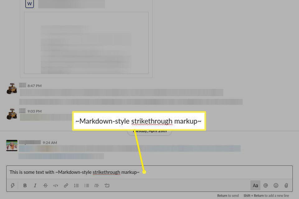 Using Markdown-style markup to denote strikethrough.