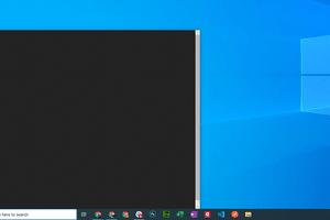 Blank Windows 10 search bar