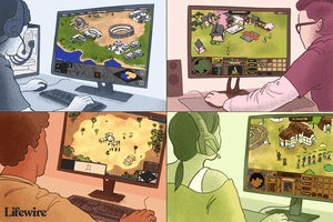 People playing different entries of the Age of Empires series of games