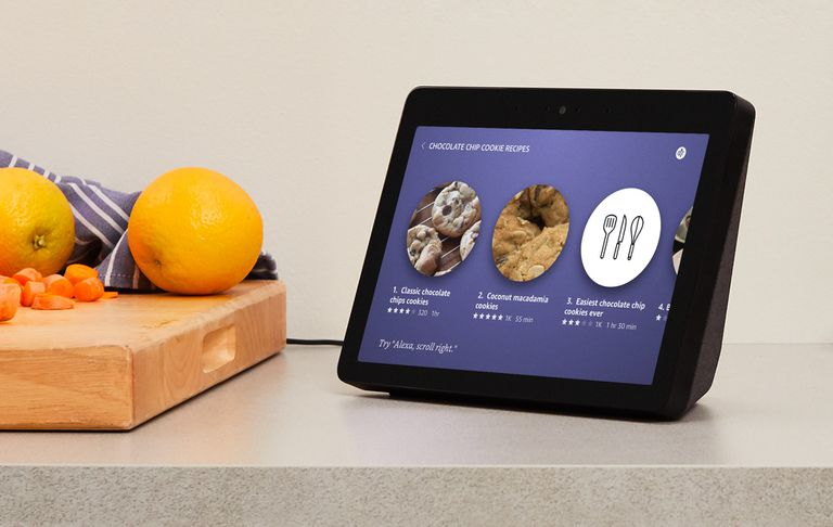 Echo Show on kitchen counter