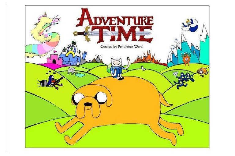 The cover for the Adventure Time pitch bible