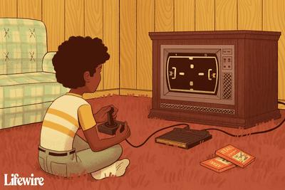 Kid playing on an Atari console, circa 1977