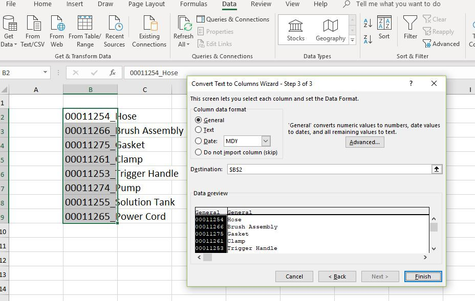 Column data format