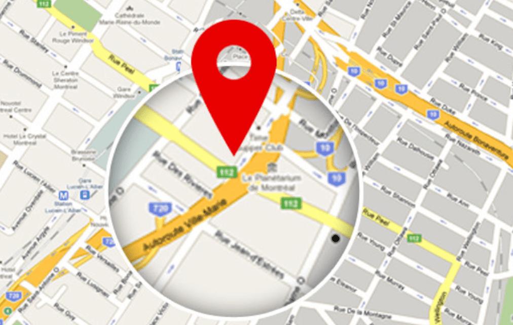 Google Map locating device