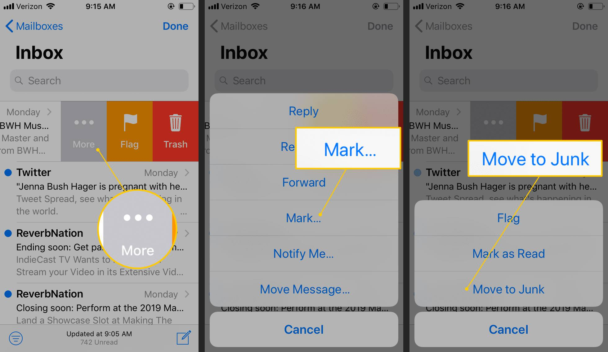 how to stop junk mail on iphone