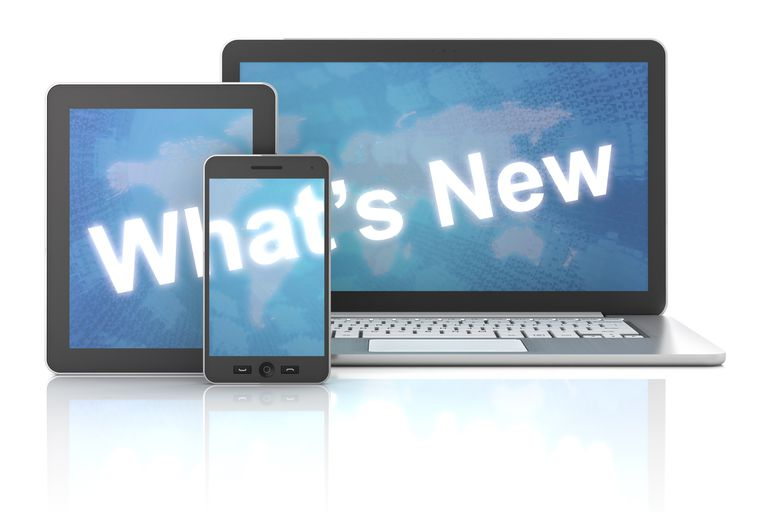 What's new on laptop,digital tablet and smartphone, 3d render