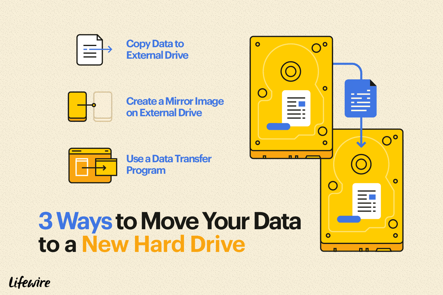 how to move data from old computer to new