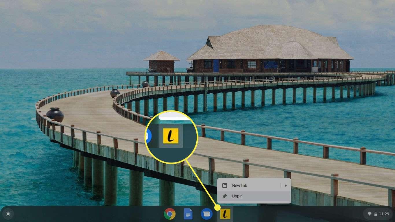 A shortcut on Chromebook