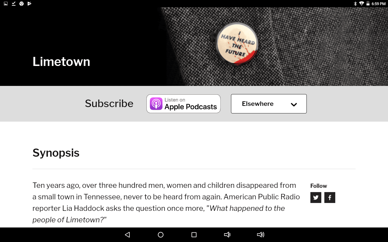 Limetown home page