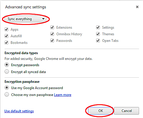 how to change default google account on chrome