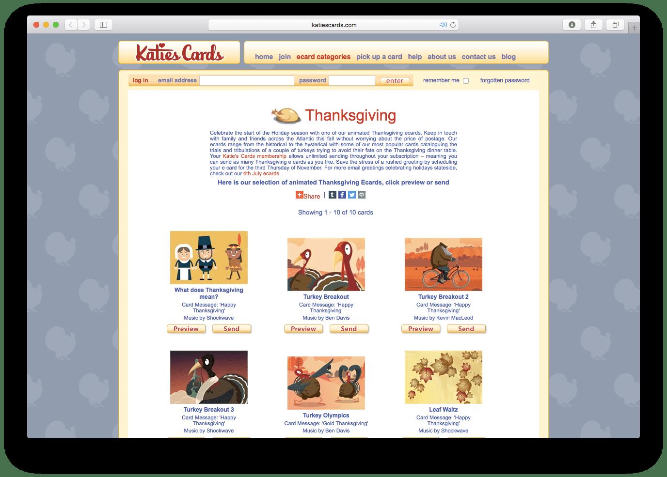 25 Favorite Thanksgiving E Card Sites 2018