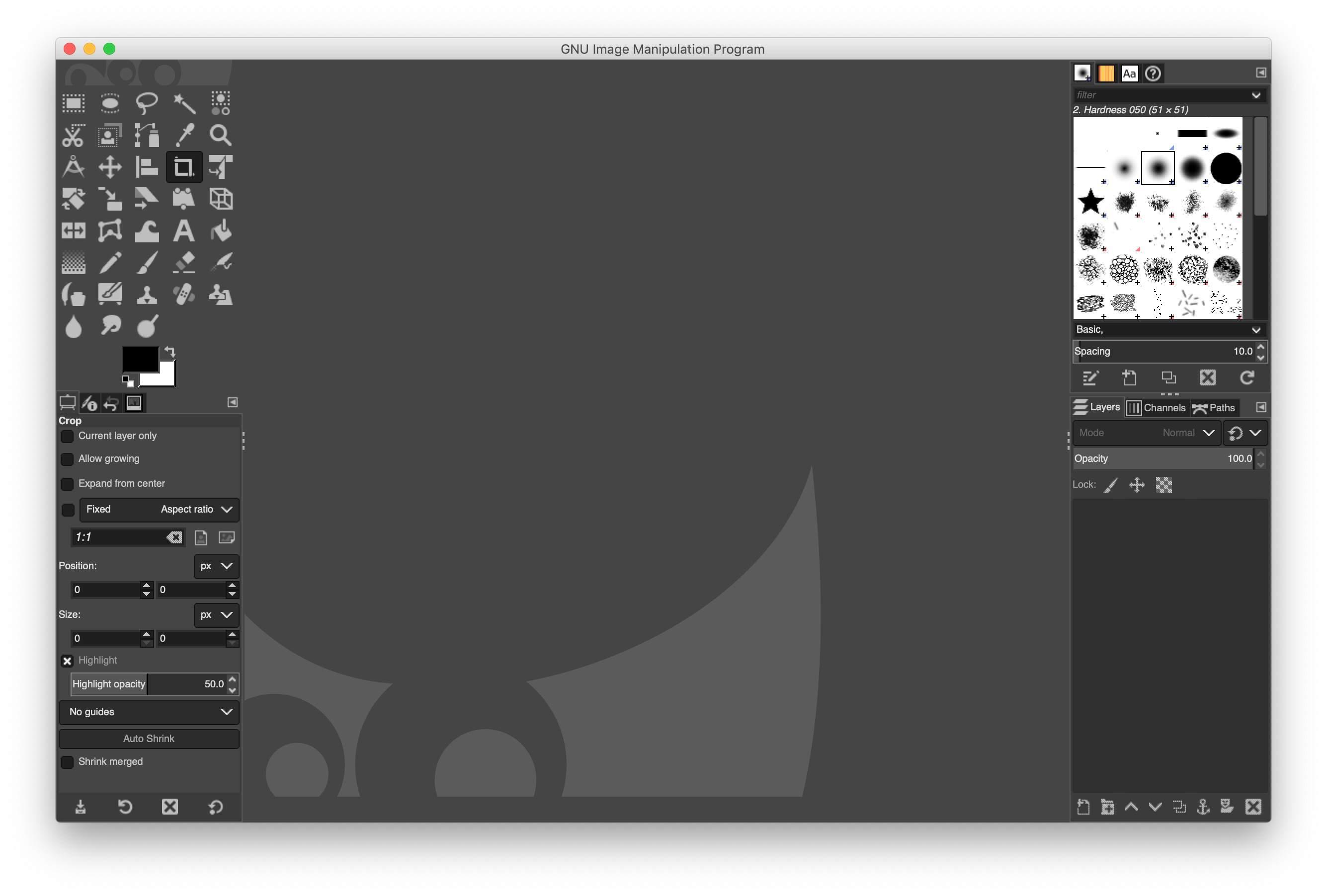 Gimp on macOS