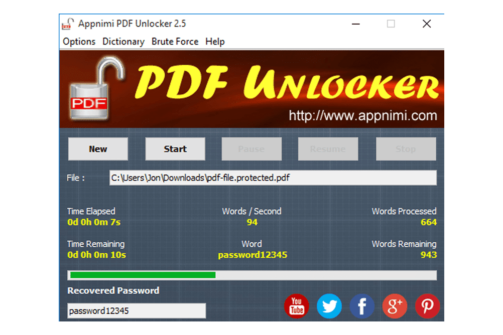 pdf password recovery tool mac