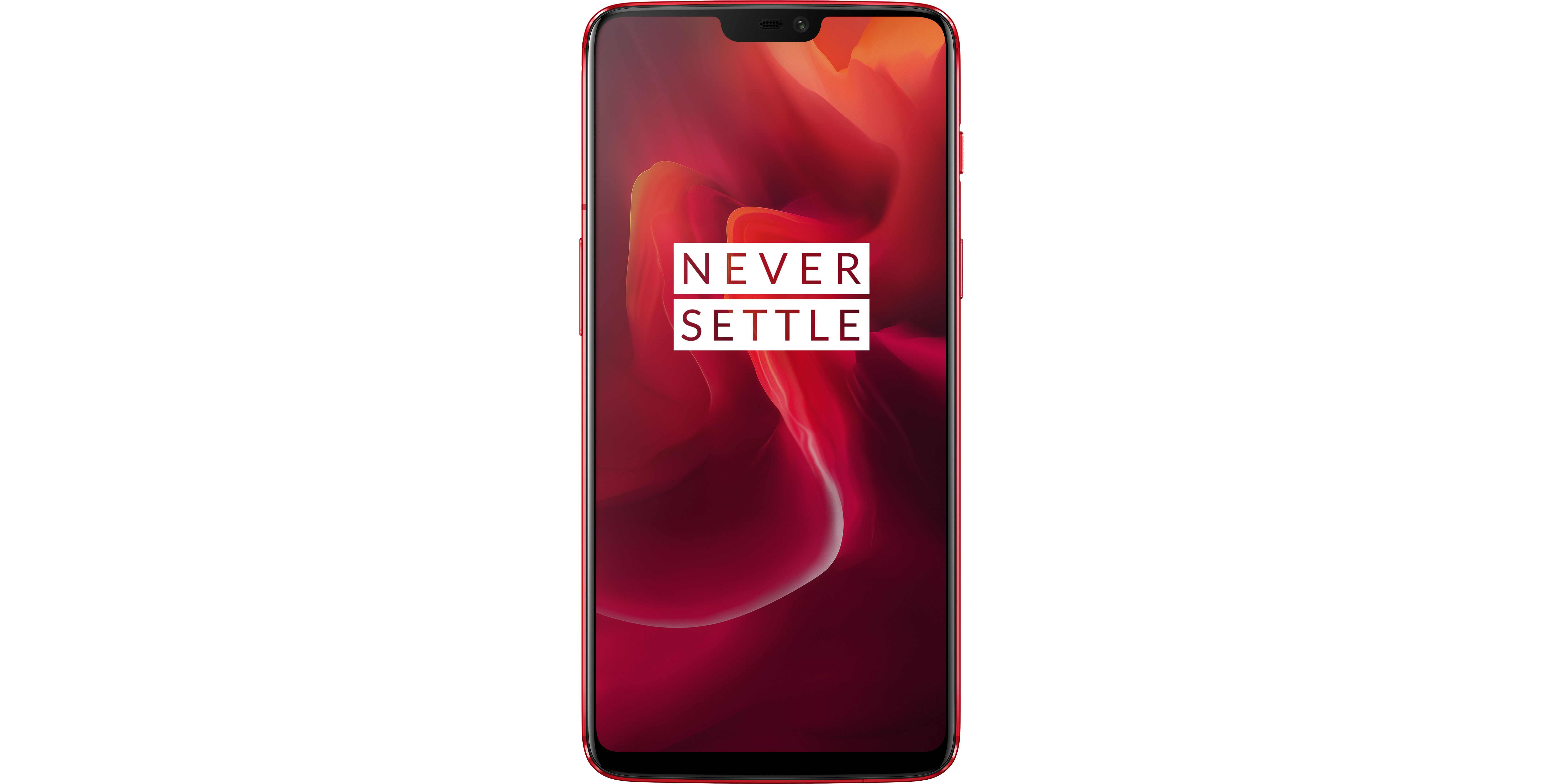 OnePlus 6T smartphone in red