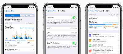 ScreenTime screens in iOS 12