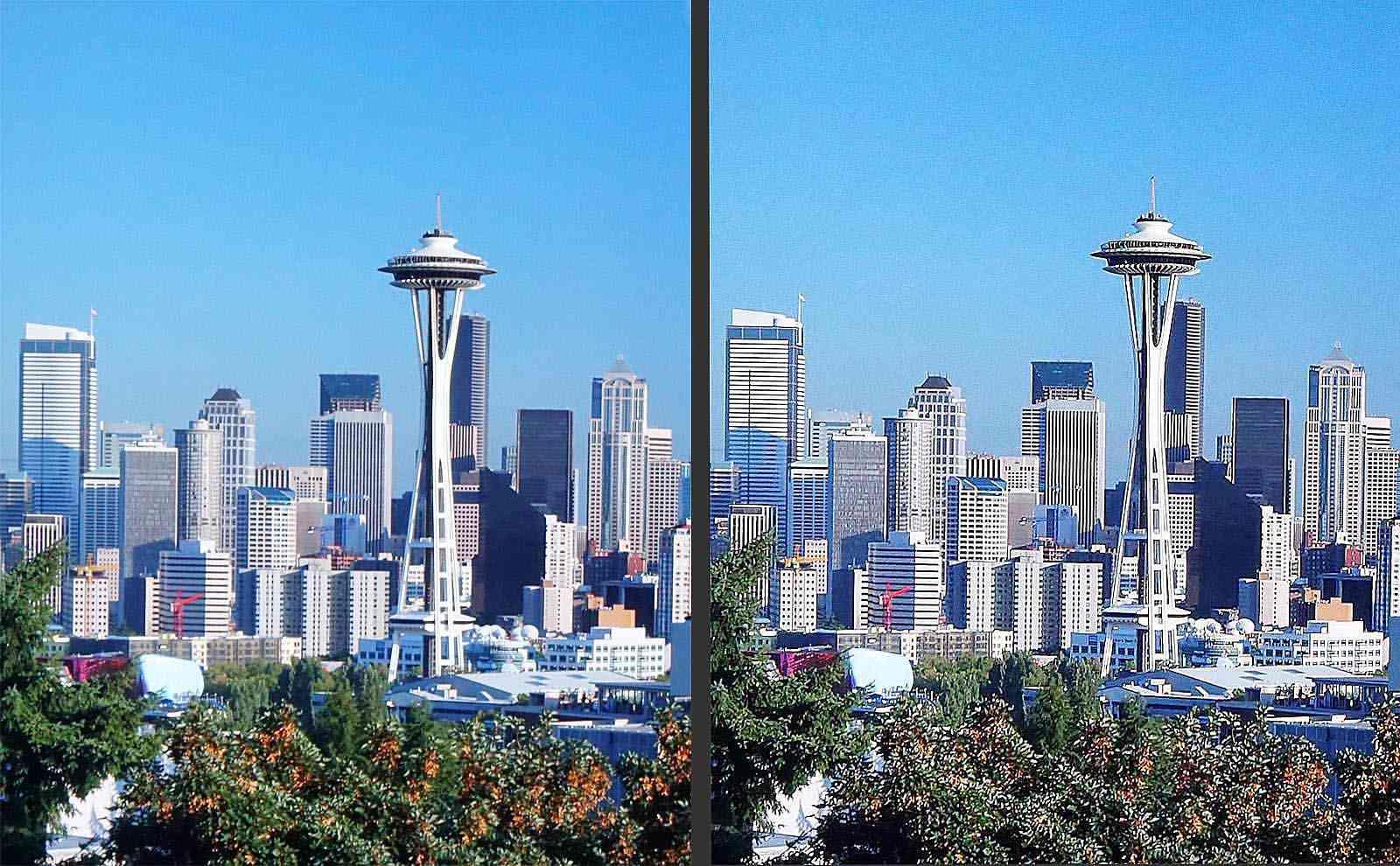 Seattle Skyline – Normal vs Sharp