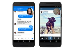 Facebook and Instagram on an Android phone
