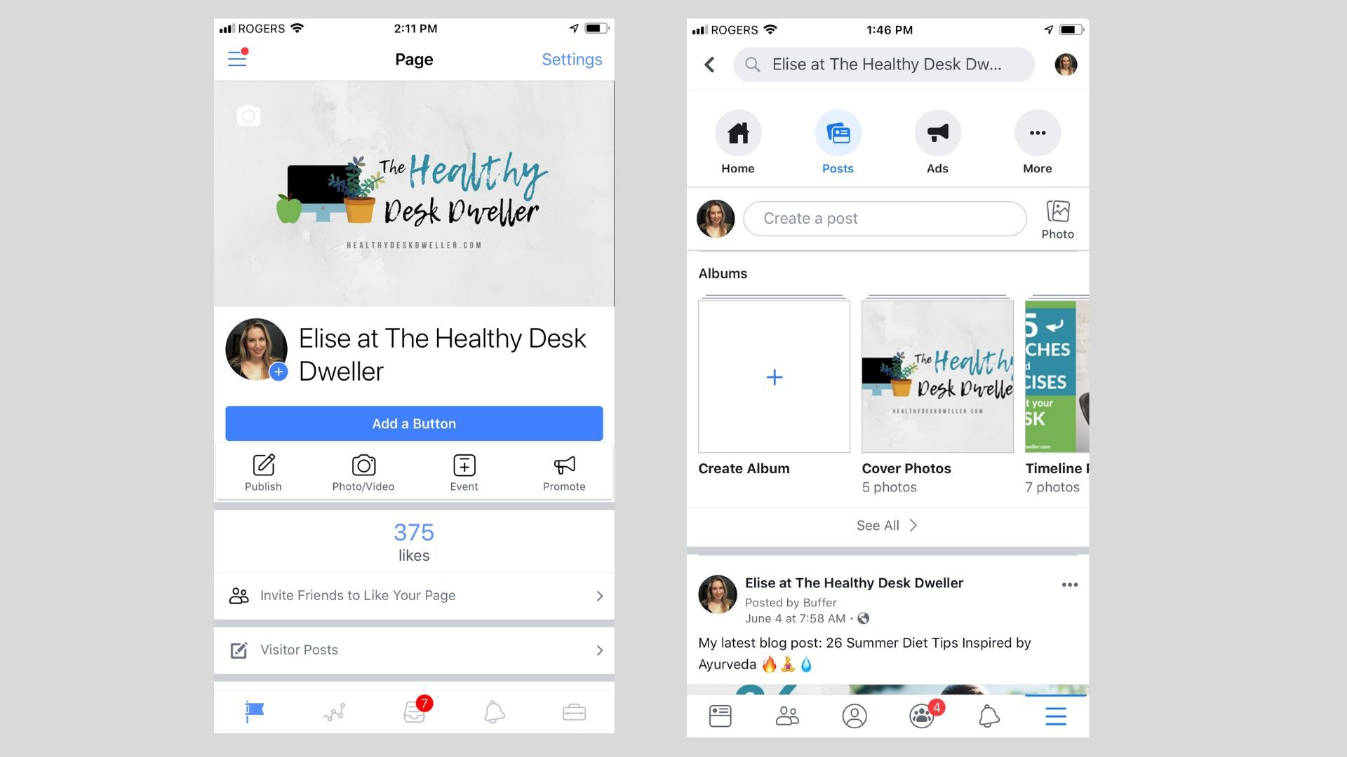 Using the Facebook Pages Manager App With Your Business Page