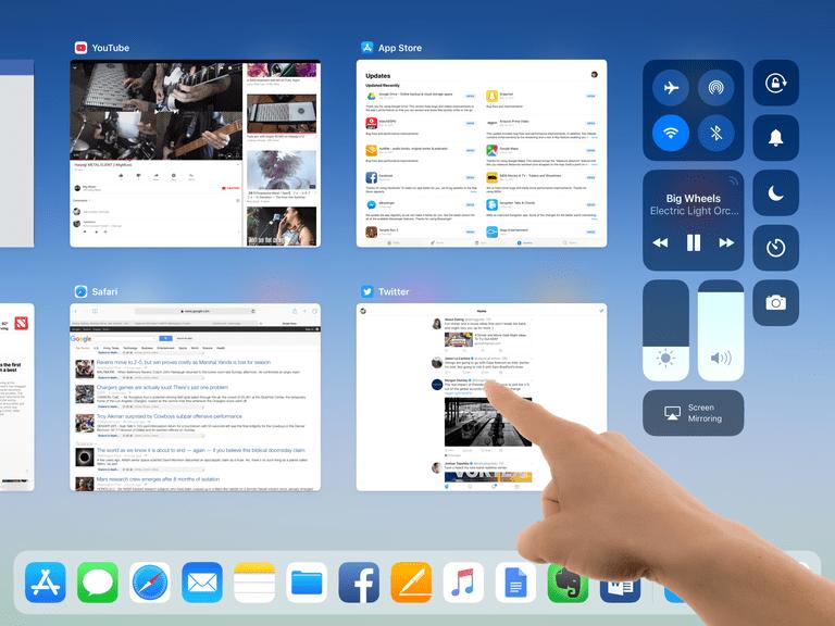 iPad multi-tasking screen