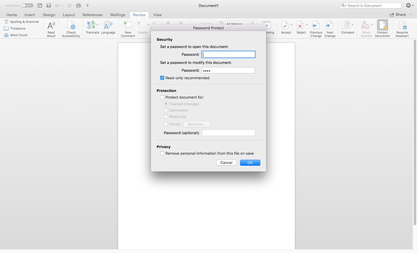 how to unlock a word document for editing 2013