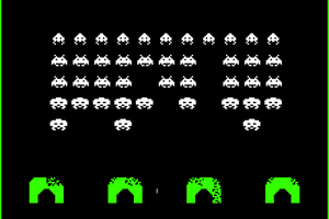 A screenshot of Space Invaders.