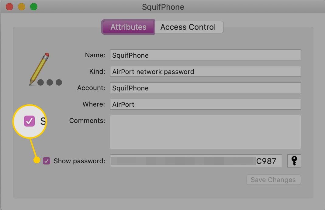 Show password checkbox on macOS