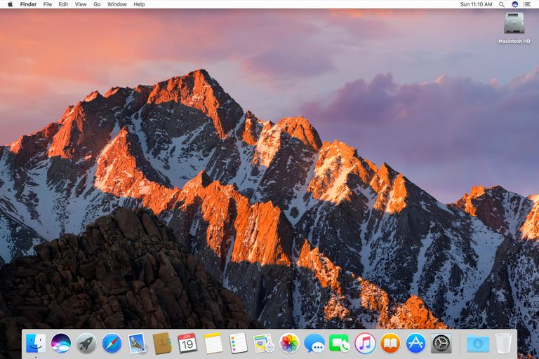macOS Sierra on mac desktop