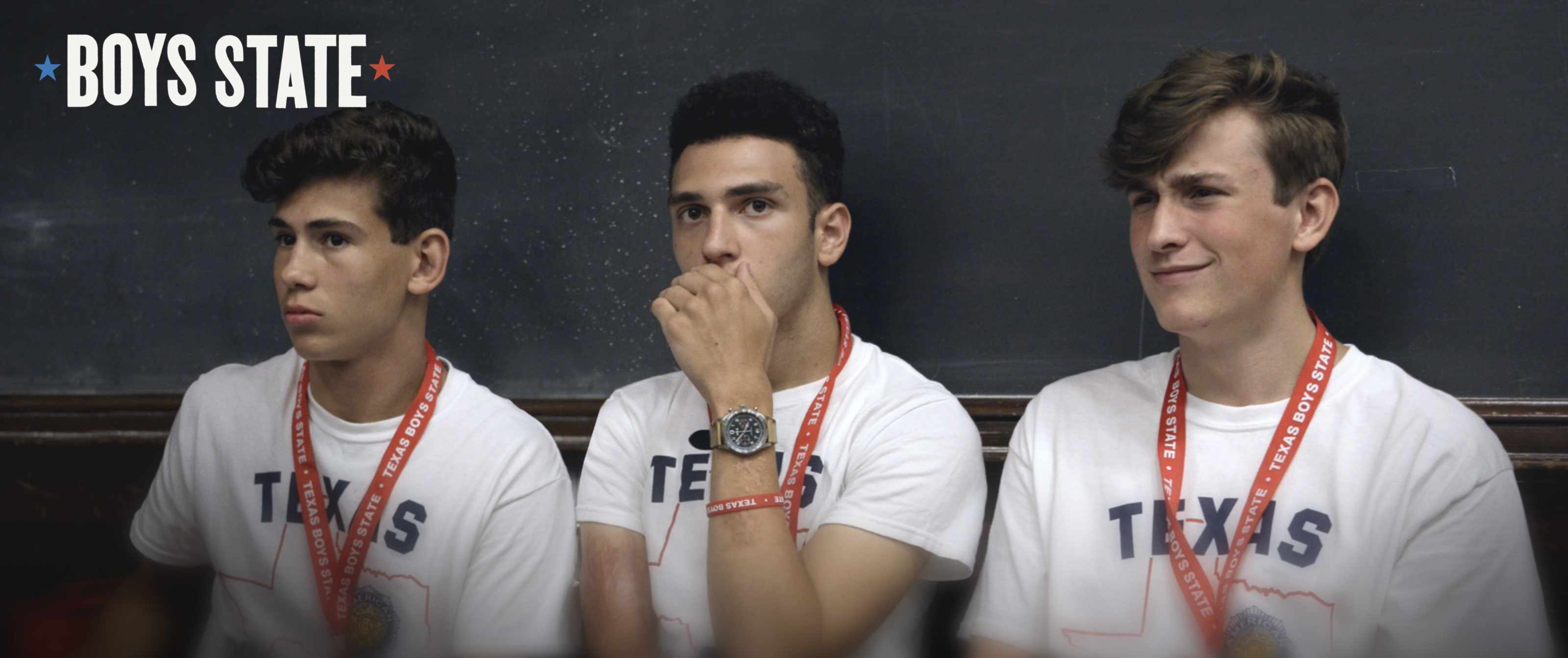 screenshot from the Boys State documentary
