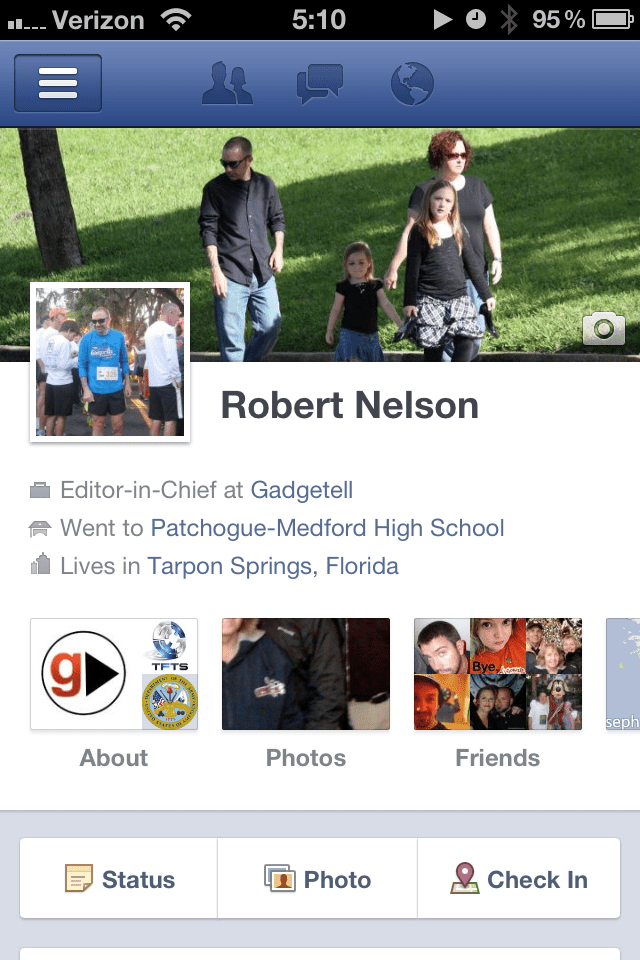 Facebook Timeline with Cover Photo