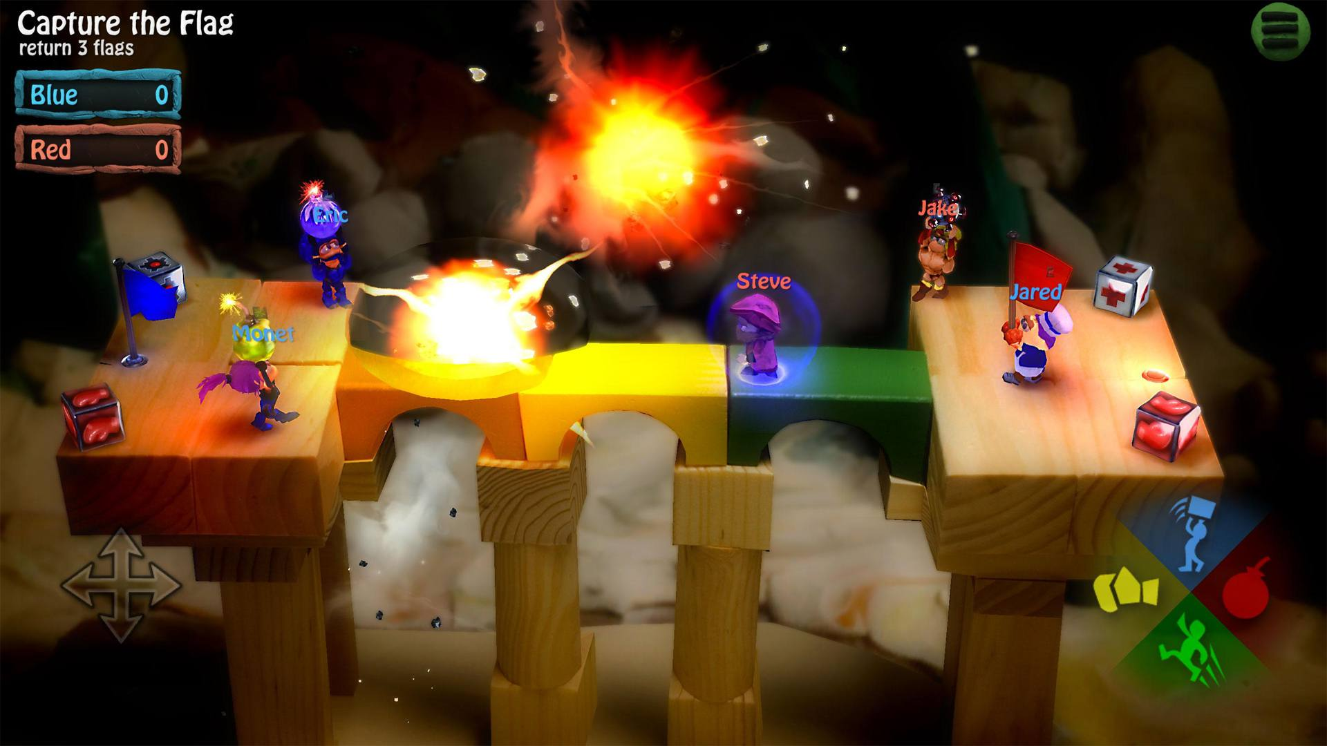 Offline multiplayer Android video game, BombSquad.