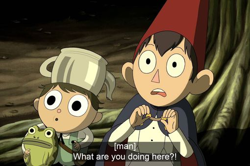 """Cartoon Network's """"Over the Garden Wall"""" with subtitles on"""