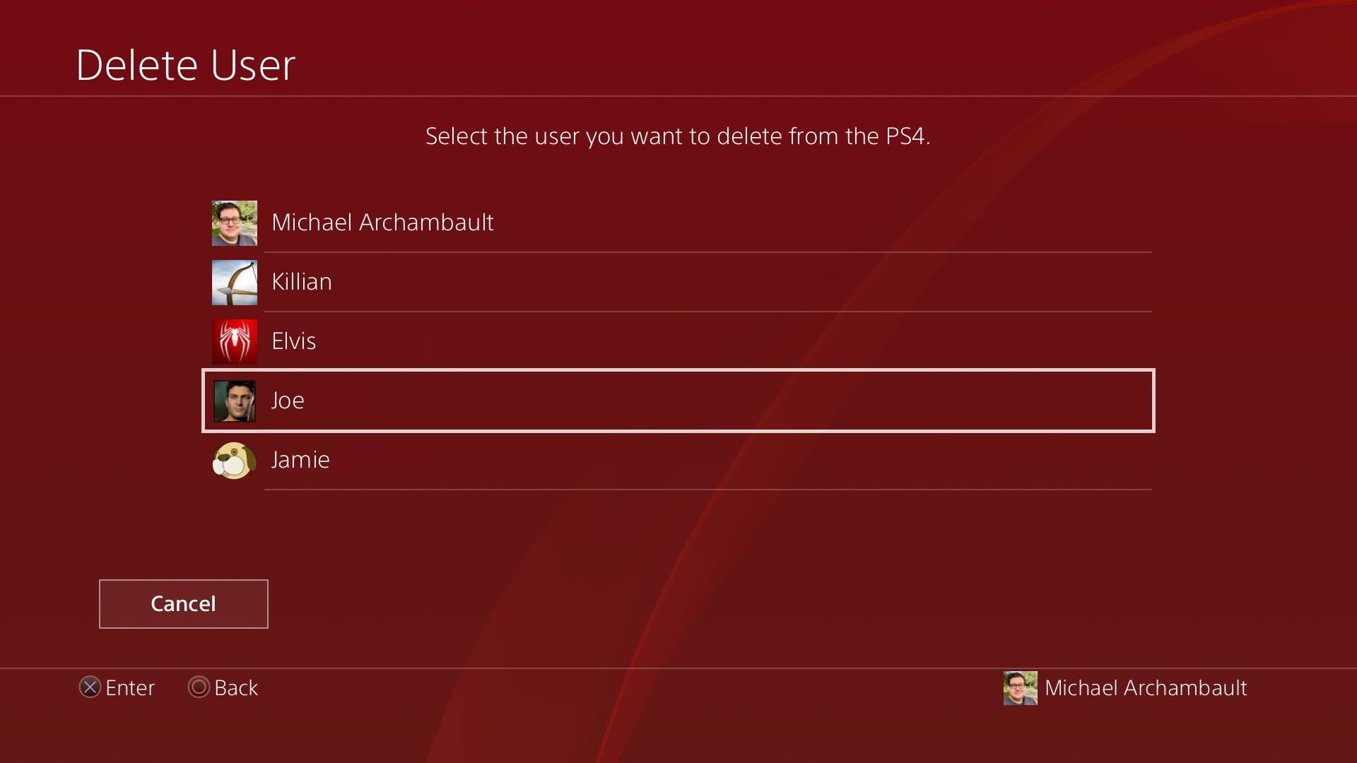 How to Delete User on PS4