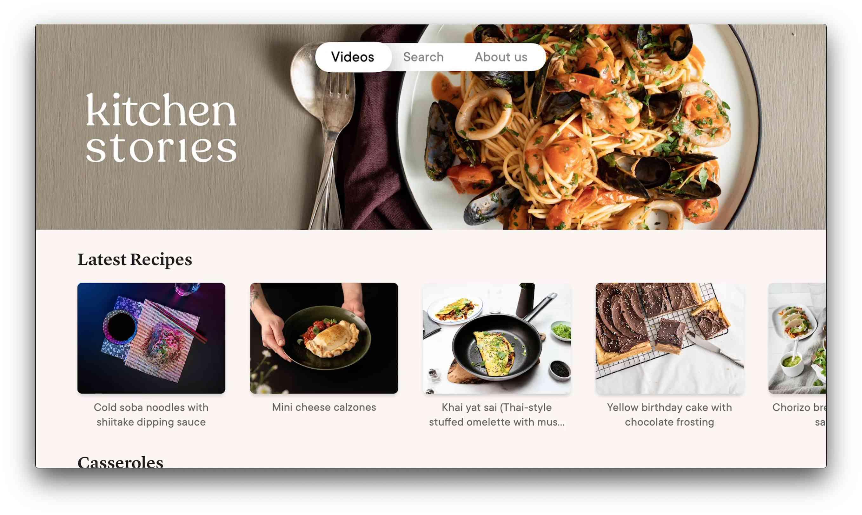 Kitchen Stories app for Apple TV