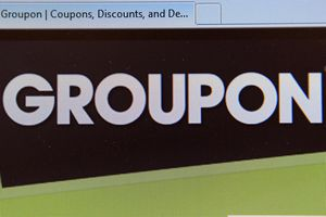 The Groupon logo is displayed on the company's website June 2, 2011.