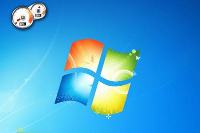 Screenshot of the CPU Meter gadget for Windows 7