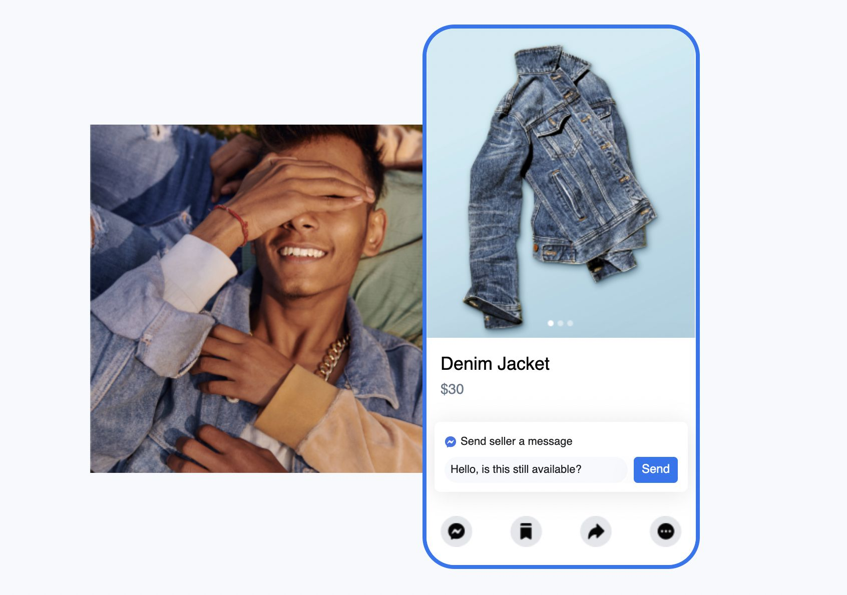 Facebook Pay, $30 denim jacket