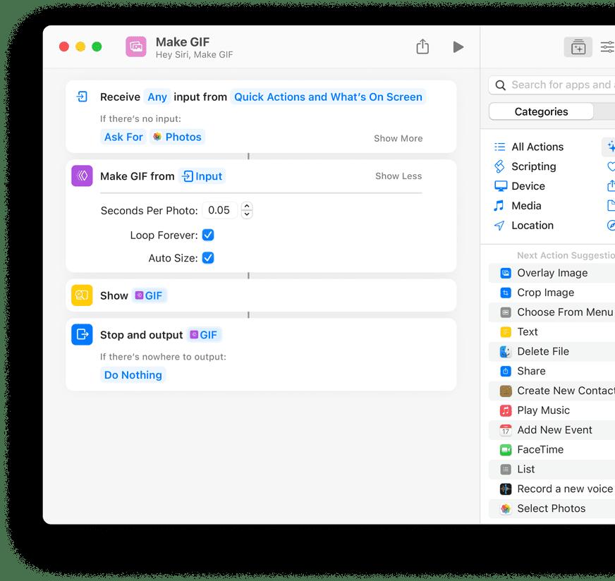 Shortcuts for macOS editor