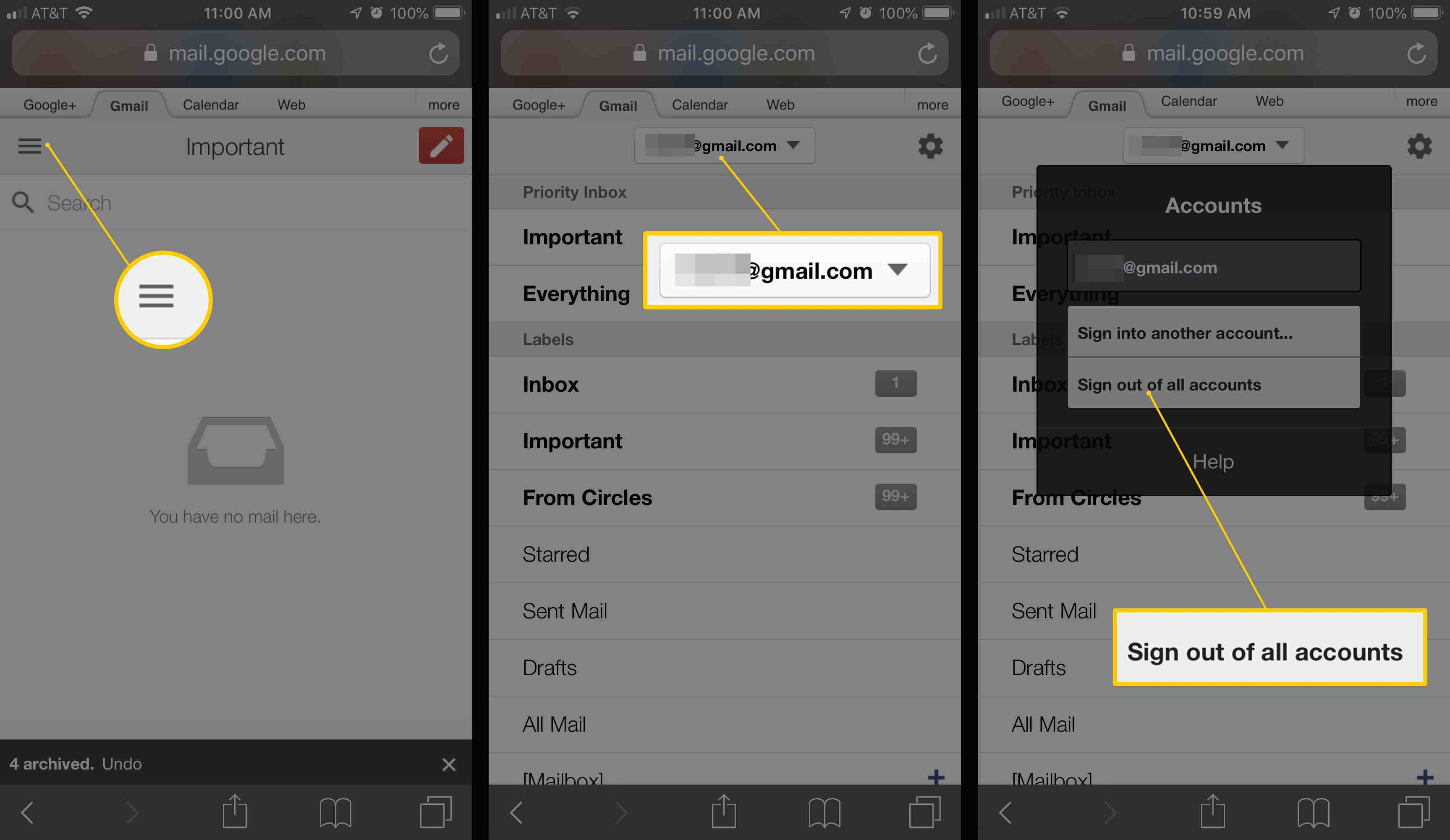 how to logout your google account from all devices