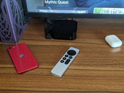 The new Siri remote with an Apple TV 4K